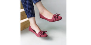 Gratica Flat Shoes AW42 – Maroon Yang Trendy